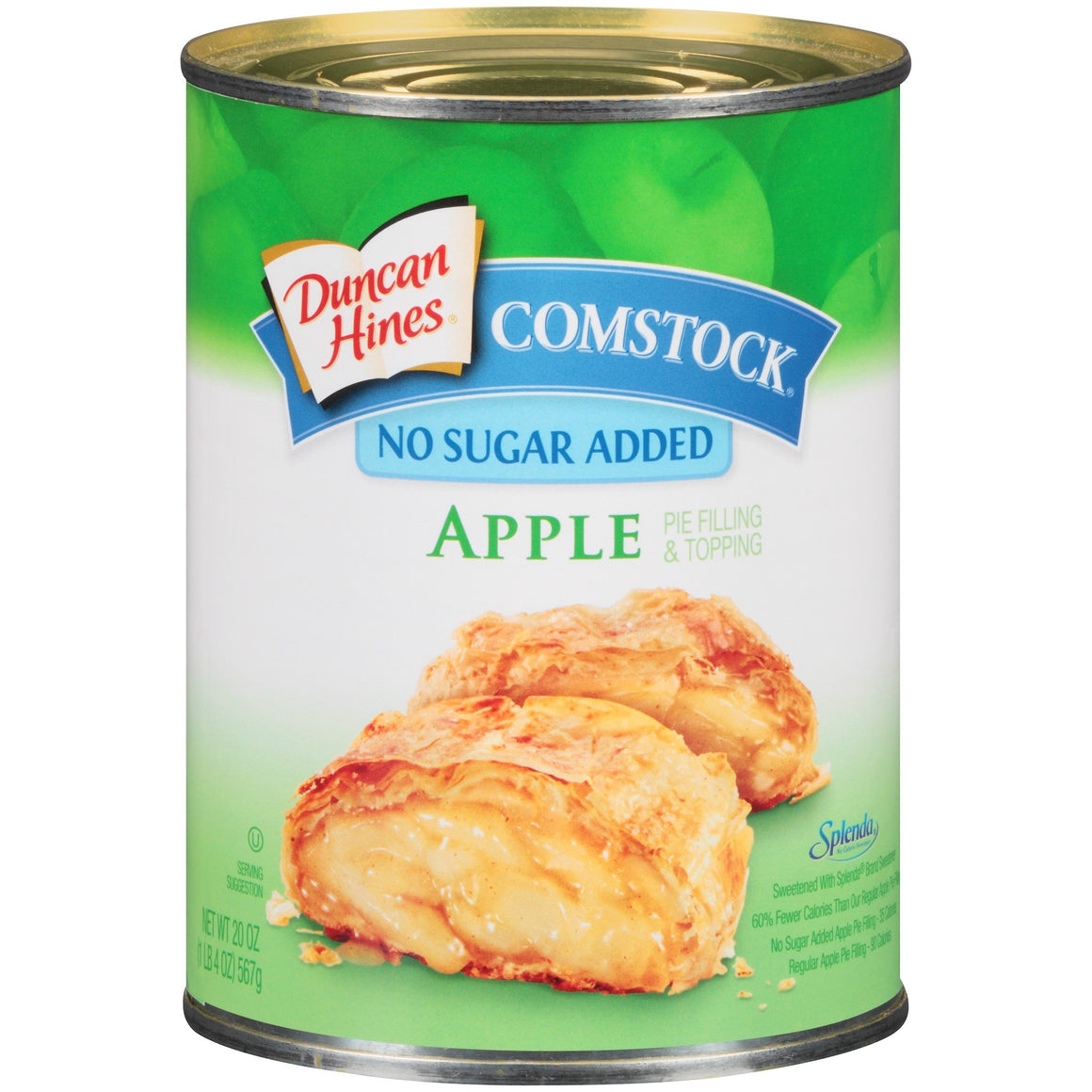 Duncan Hines Comstock - No Sugar Added Pie Filling and Topping - Apple - 20 oz