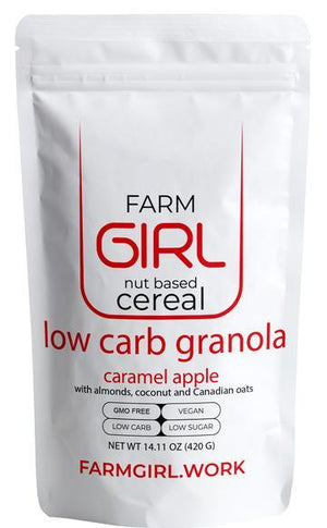 Farm Girl Nut Based Cereal - Low Carb Granola - Caramel Apple - 14.11 oz.
