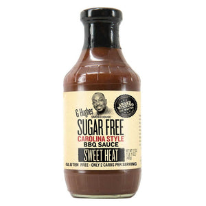G Hughes Smokehouse - Sugar Free BBQ Sauce - Carolina Style Sweet Heat - 18 oz.