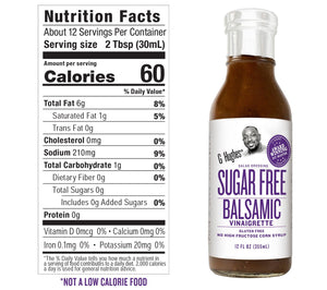 G Hughes Salad Dressing - Sugar Free Balsamic Vinaigrette - 12 oz