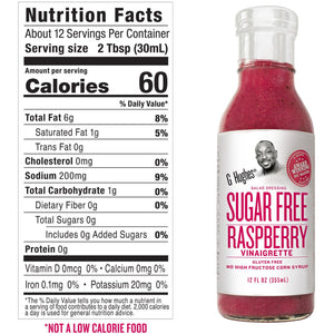 G Hughes Salad Dressing - Sugar Free Raspberry Vinaigrette - 12 oz
