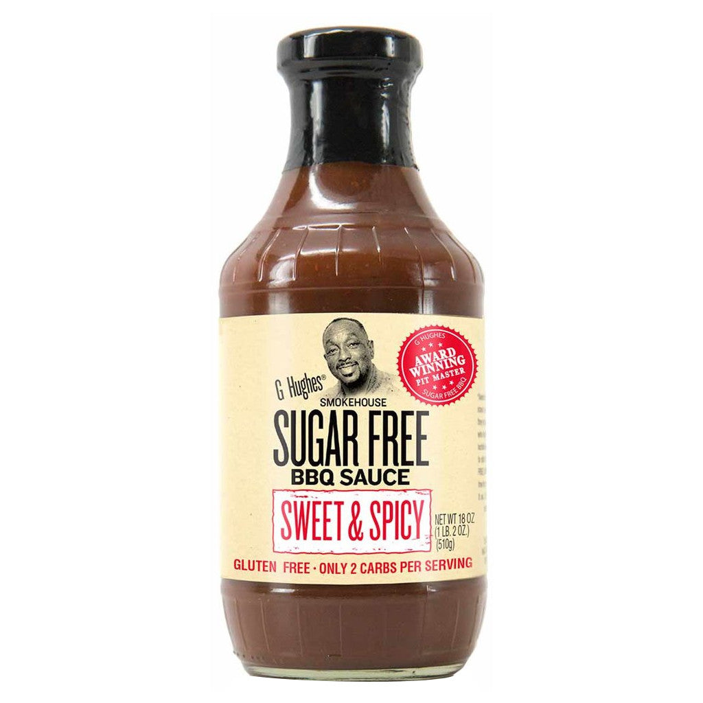 G Hughes Smokehouse - Sugar Free BBQ Sauce - Sweet & Spicy - 18 oz.