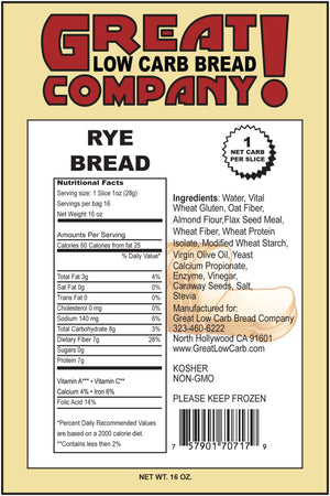 Great Low Carb Bread Company - Bread - Rye - 1 Loaf - Low Carb Canada - 2