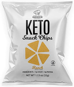 Genius Gourmet - Keto Snack Chips - Ranch - 1 Bag