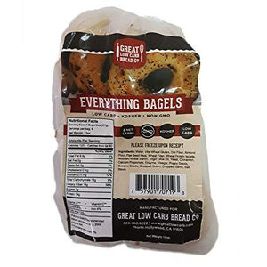 Great Low Carb Bread Company - Bagel - Everything Flavour - 12 oz bag