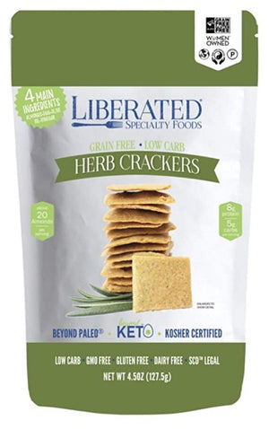 Liberated Specialty Foods - Herb Crackers - 4.5 oz