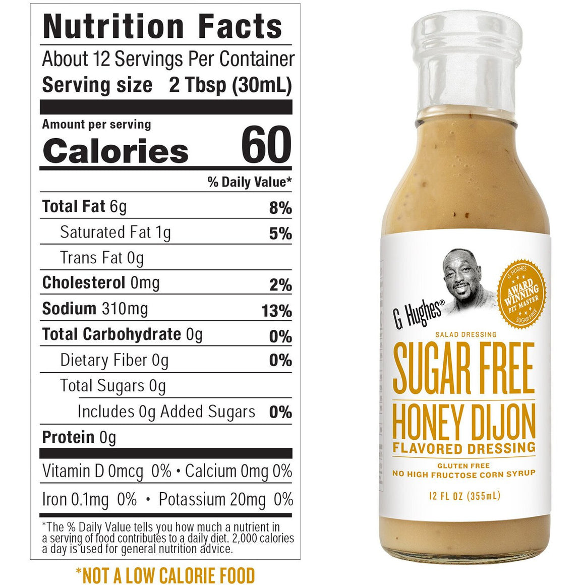 G Hughes Salad Dressing - Sugar Free Honey Dijon - 12 oz