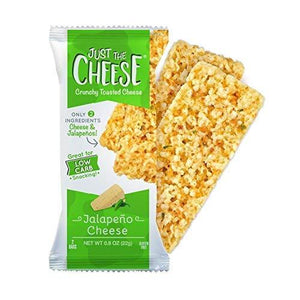 Just the Cheese - Crunchy Baked Cheese Bars - Jalapeno Flavor