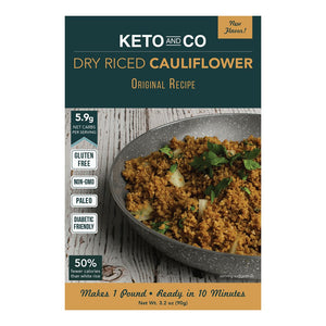 Keto and Co - Seasoned Dry Riced Cauliflower - Original Recipe