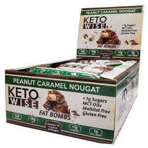 Keto Wise - Keto Fat Bombs - Peanut Caramel Nougat - 1 Bar