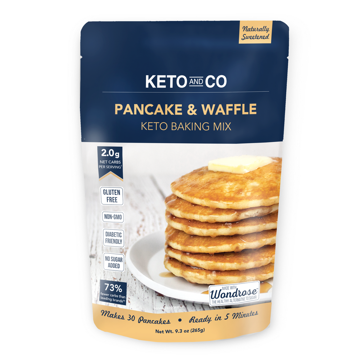 Keto and Co - Pancake and Waffle Keto Baking Mix - 9.3 oz