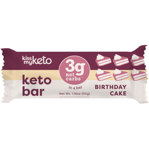 Kiss My Keto - Keto Bar - Birthday Cake - 1 Bar
