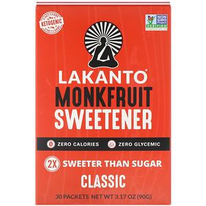 Lakanto - Monkfruit Sweetener with Erythritol - Classic - 30 sachets