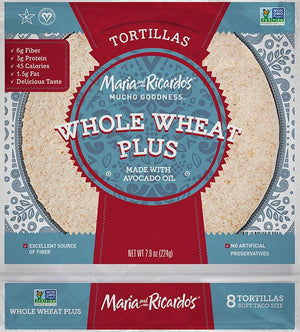 Maria and Ricardo's - Whole Wheat Plus Tortillas Made with Avocado Oil - 8 Tortillas