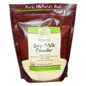 Now - Organic Soy Milk Powder - 20oz - Low Carb Canada - 1