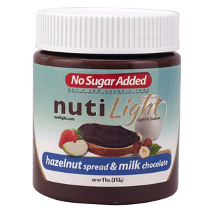 NutiLight - Sugar Free - Hazelnut and Milk Chocolate - 11 oz