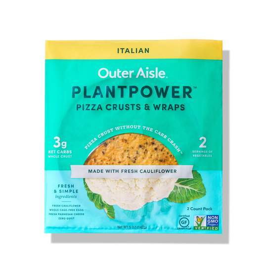 Outer Aisle - Plantpower Pizza Crust - Italian - 2 crusts