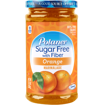 Polaner - Sugar Free Jam with Fiber - Orange - 13.5 oz - Low Carb Canada