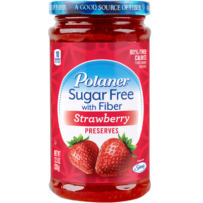 Polaner - Sugar Free Jam with Fiber - Strawberry - 13 5 oz