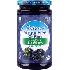Polaner - Sugar Free Jam with Fiber - Seedless Blackberry - 13.5 oz - Low Carb Canada