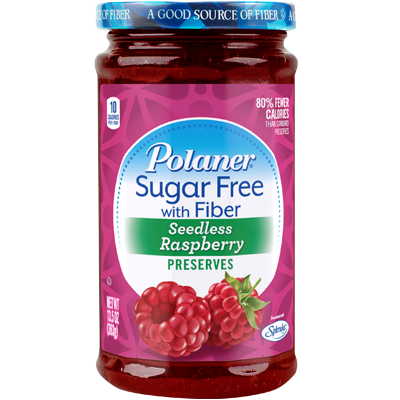 Polaner - Sugar Free Jam with Fiber - Seedless Raspberry - 13.5 oz - Low Carb Canada