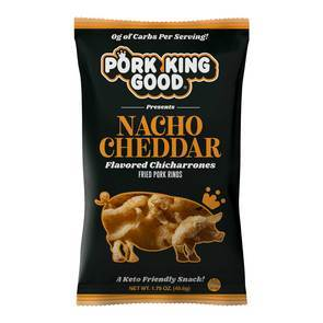 Pork King Good - Fried Pork Rinds - Nacho Cheddar - 1.75 oz bag
