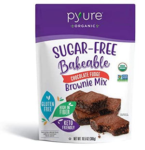 Pyure - Sugar Free Bakeable Brownie Mix - Chocolate Fudge - 10.5 oz Bag