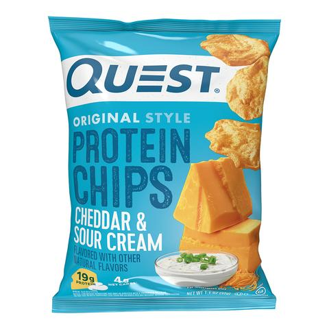 Quest Protein Chips - Cheddar and Sour Cream - 1 Bag