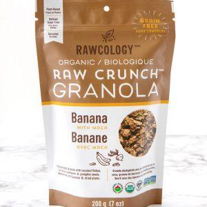 Rawcology - Raw Crunch Granola - Banana with Maca - 7 oz bag