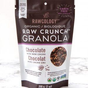 Rawcology - Raw Crunch Granola - Chocolate with raw cacao - 7 oz bag
