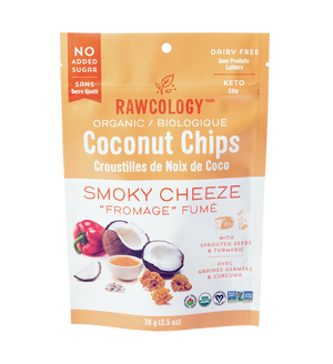 Rawcology - Coconut Chips - Smoky Cheeze - 2.5 oz bag