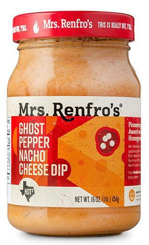 Mrs. Renfros - Cheese Sauce - Ghost Pepper Nacho - Scary Hot - 16 oz