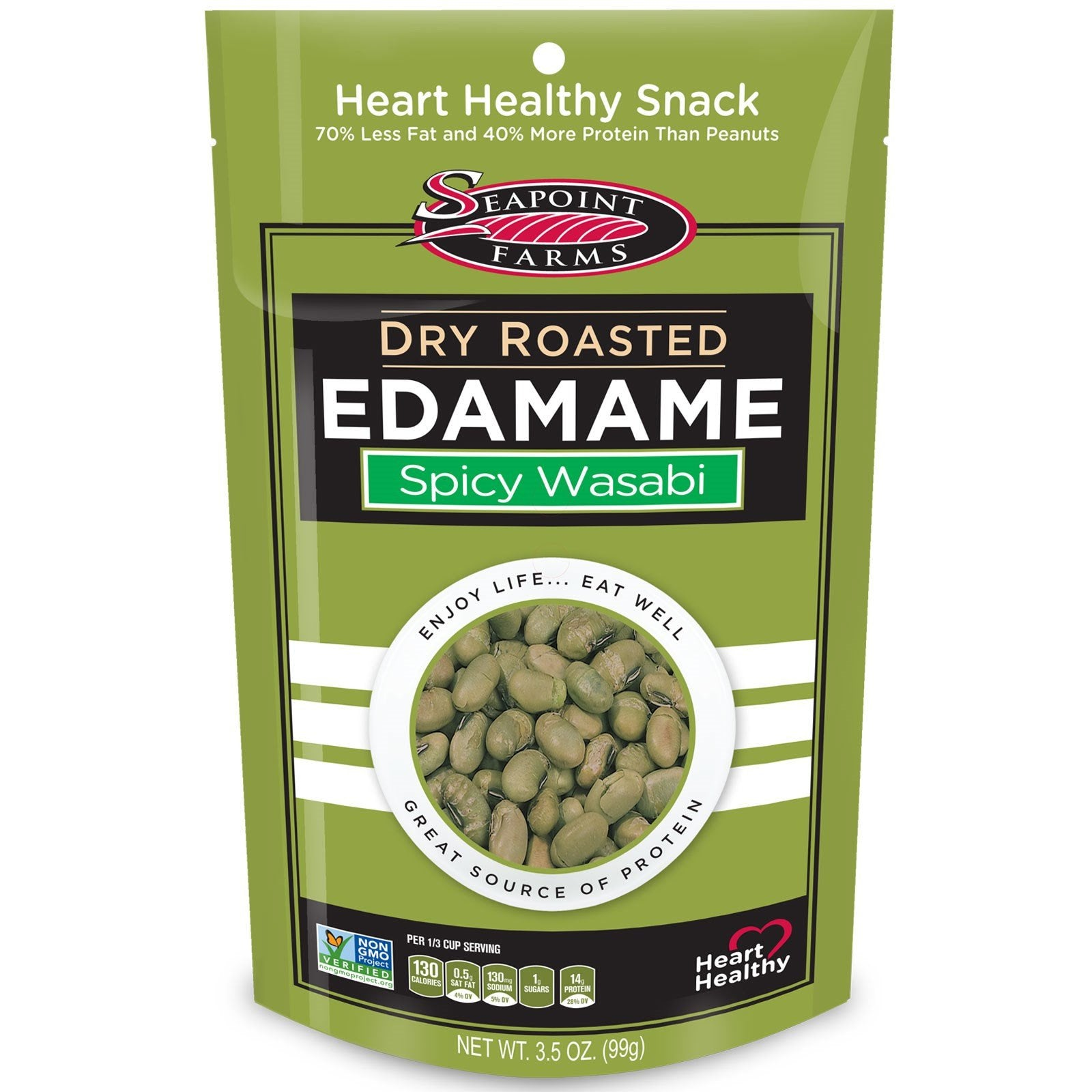 Seapoint Farms Dry Roasted Edamame Wasabi 3 5 Oz Low Carb Canada