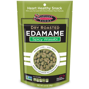 Seapoint Farms - Dry Roasted Edamame -Spicy Wasabi - 3.5 oz - Low Carb Canada - 1