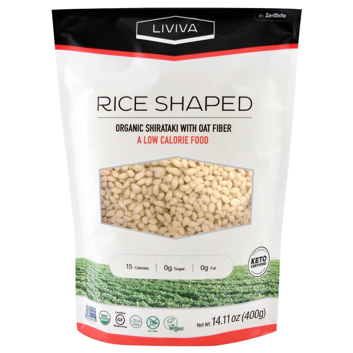 Liviva Organic Rice Shaped Shirataki with Oat Fiber