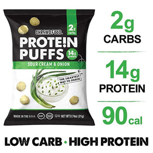 Shrewd Food - Protein Puffs - Sour Cream & Onion - 0.74 oz bag