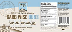 Slice of Life - Carb Wise Buns - 4 pack