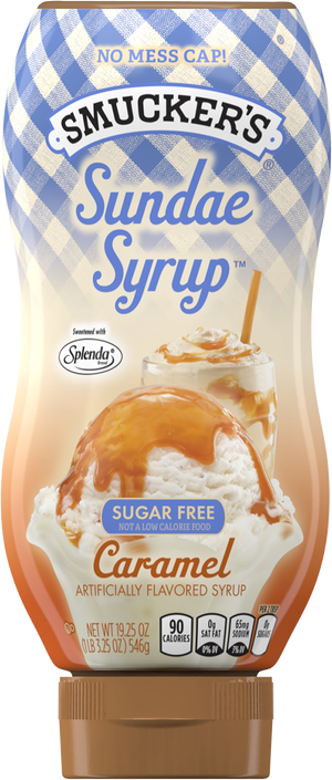 Smuckers - Sugar Free Sundae Syrup - Caramel - 19.25 oz bottle