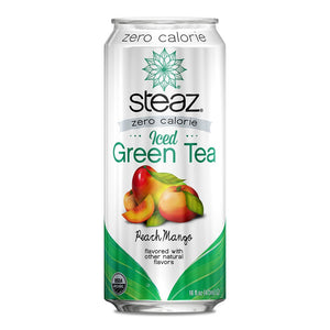Steaz - Zero Calorie Iced Tea - Peach Mango