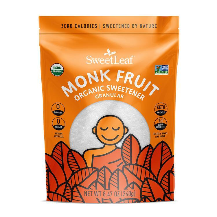 SweetLeaf - Monk fruit Organic Sweetener Granular - 8.4 oz Bag