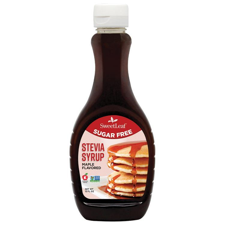 SweetLeaf - Sugar Free Stevia Syrup - Maple Flavored - 12 oz