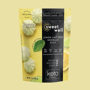 Sweetwell - Keto Friendly Meringue Bites - Lemon Lime Zest - 1.4 oz