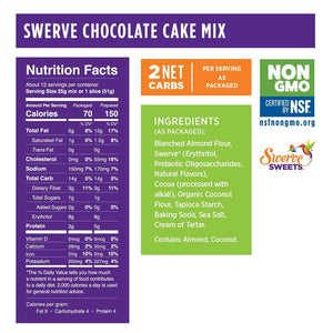 Swerve Sweets - Cake Mix - Chocolate