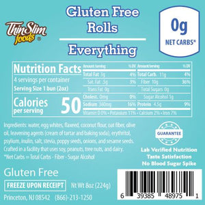 ThinSlim Foods - Gluten Free Rolls - Everything