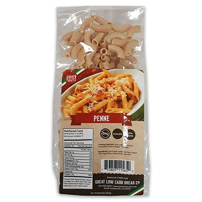 Great Low Carb Bread Company - Penne - 8 oz bag