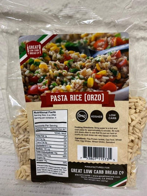 Great Low Carb Bread Company - Rice Orzo - 8 oz bag