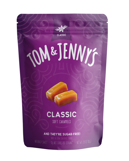 Tom & Jenny's -  Sugar Free Soft Caramels - Classic - 2.9 oz bag