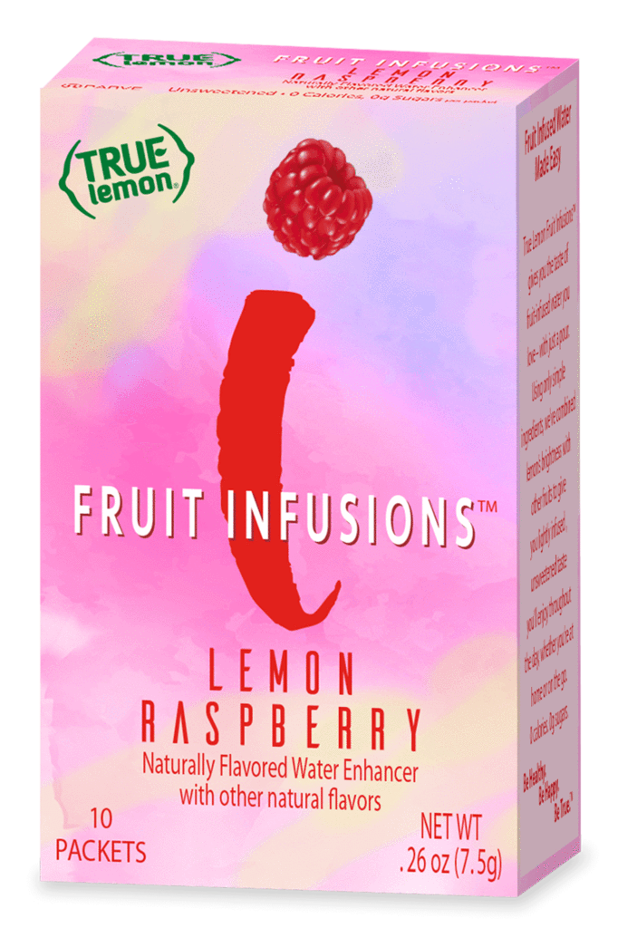 True Lemon - Fruit Infusions - Lemon Raspberry - 10 Packets