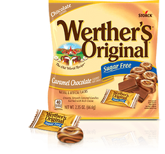 Werther's Original - Sugar Free Hard Candies - Caramel Chocolate - 2.35 oz Bag - Low Carb Canada