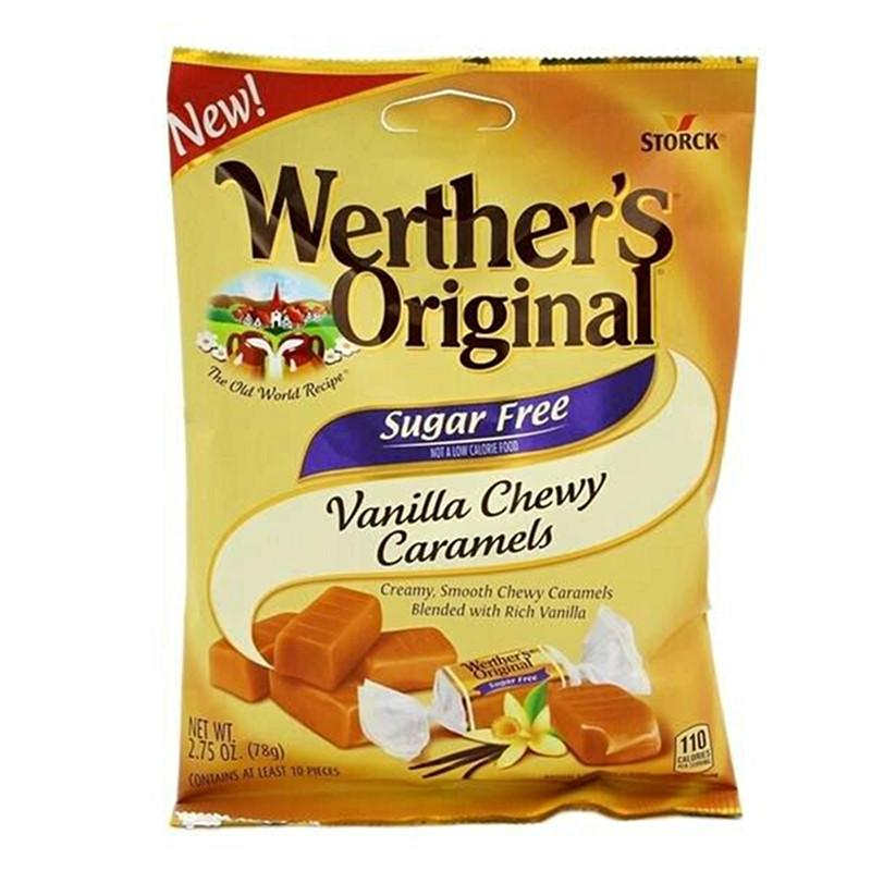 Werther's Original - Sugar Free Chewy Caramels - Vanilla - 2.75 oz Bag